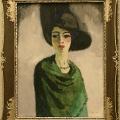 Kees van Dongen, la dame au chapeau noir