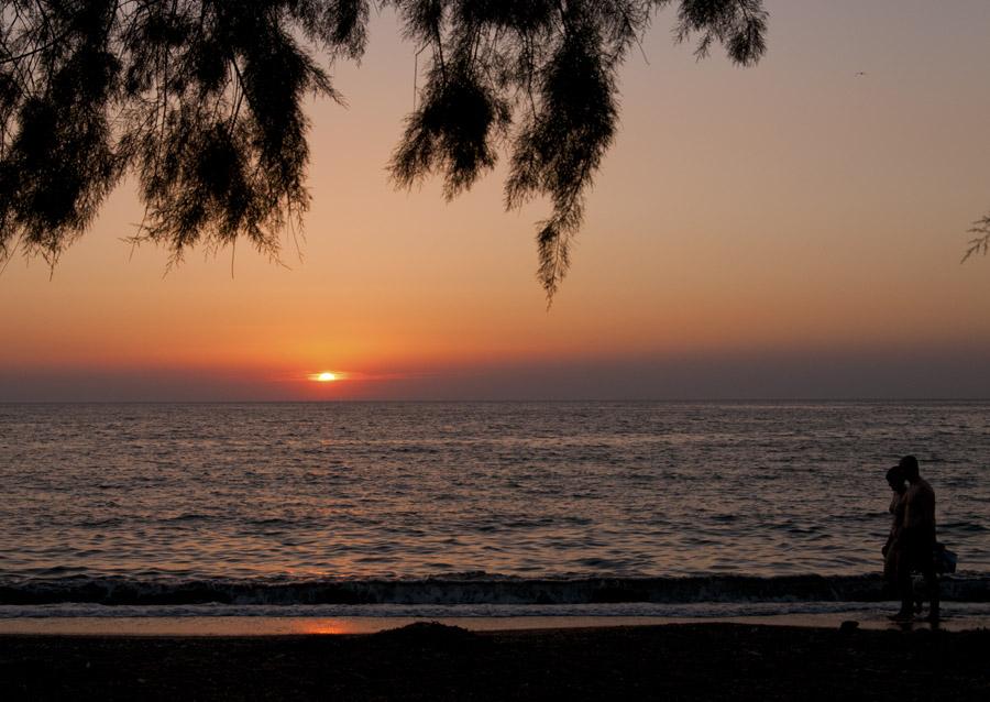 zonsondergang Petra Lesbos